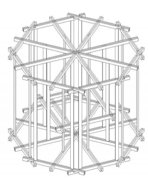 Progetto per costruire chiosco in legno chiringuito con 8 for Progetto gazebo in legno pdf