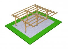 DIY Construction project for gazebo TYPE 5 700x600