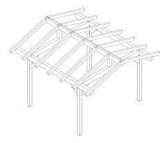 DIY Construction project for gazebo TYPE 3 390x400