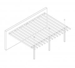 DIY Construction project for gazebo TYPE 4 wall 700x510