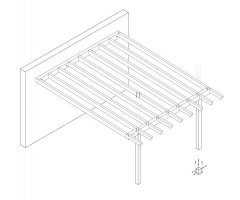 DIY Construction project for gazebo TYPE 4 wall 400x510