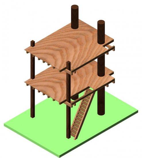 Casa sull albero progetto - Progetto casa sull albero per bambini ...
