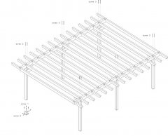 DIY Construction project for gazebo TYPE 1 700x570