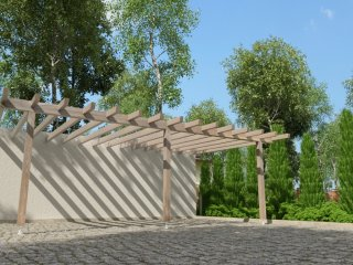 "Wall gazebo with flat roof ""Pergola"" 700 x 510"
