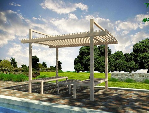 DIY Construction project for gazebo 'RELAX'
