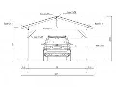 DIY Construction project for gazebo TYPE 3 490x600