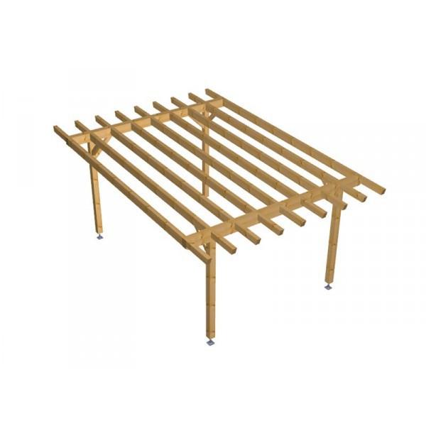Progetto per costruzione gazebo type 1 400x570 diy gazebo for Progetto gazebo in legno pdf