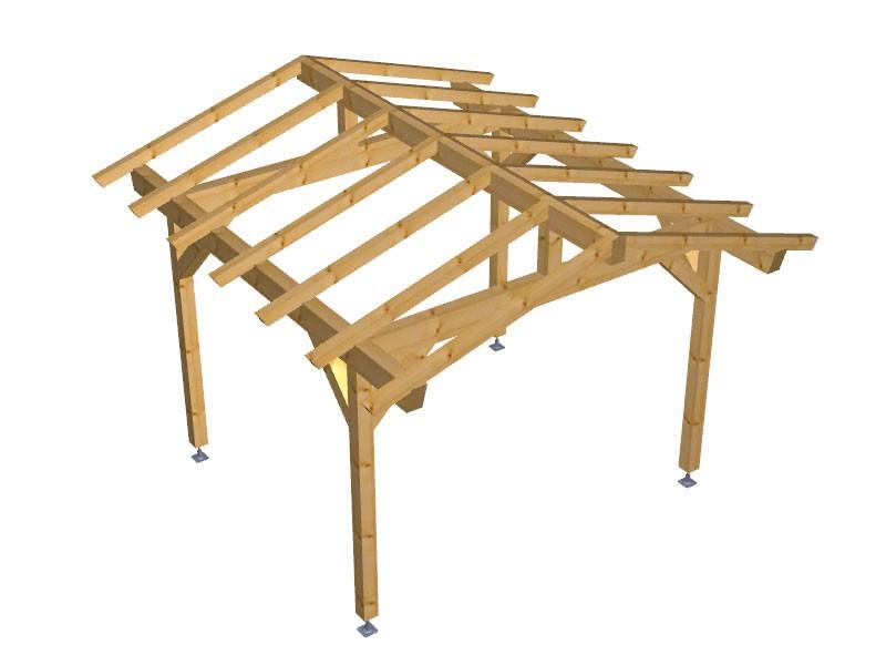 Progetto per costruzione gazebo type 3 390x400 diy gazebo for Progetto gazebo in legno pdf