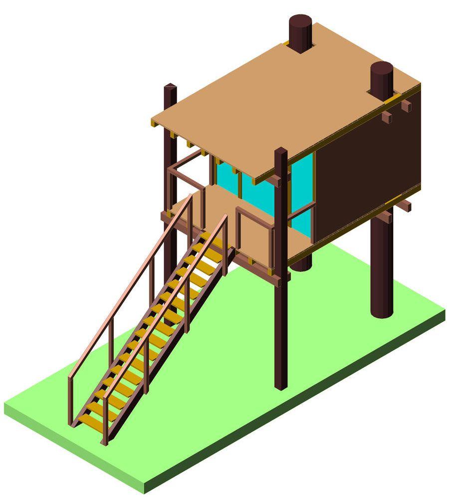 Progetto per costruzione casa sull 39 albero con terrazzo diy tree house with terrace - Casa sull albero progetto ...